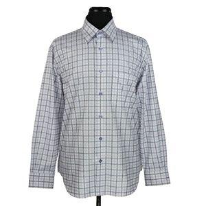 Robert Talbott Men's Long Sleeve Dress Shirt Large